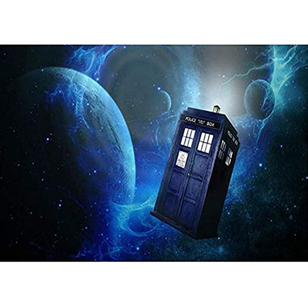 Leezeshaw 5D DIY Diamond Painting by Number Kits Fameless Rhinestone Embroidery Paintings Pictures for Home Decor - Tardis 70x60cm (Color: Tardis, Tamaño: 70x60cm)