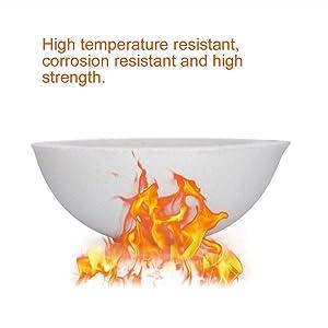 LTKJ 2pcs High Temperature Quartz Silica Melting Crucible Dish Bowl Pot Casting for Gold Silver Platinum (150g) (Tamaño: 150g)