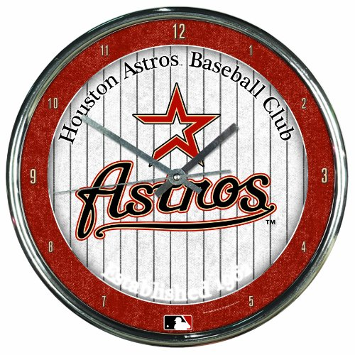 MLB Houston Astros Chrome Clock