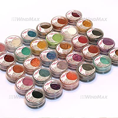 Cold Smoked Pearl Loose EyeShadow Dust Powder Makeup Cosmetic Kit 30 pieces