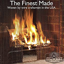 Midwest Hearth Fireplace Screen Mesh Curtain. 2 Panels Each 24\