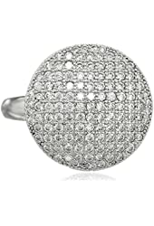ELLE Jewelry Micro Pave Cubic Zirconia Ring, Size 7