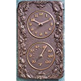 Acnathus Thermometer and Clock Combo Fr Bronze
