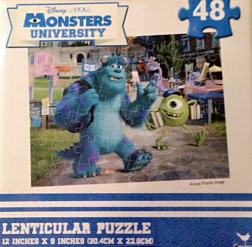 Monster University 48 Piece Lenticular Puzzle - 1
