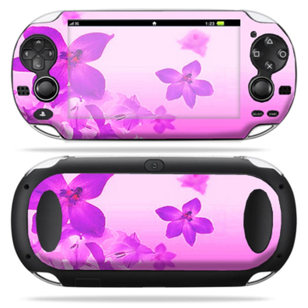 Protective Vinyl Skin Decal Cover for PS Vita PSVITA Playstation Vita Portable Sticker Skins Pink Flowers sex babe vinyl decal skin sticker for xbox360 slim with 2 controller skins