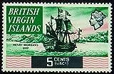 Henry Morgans Ship British Virgin Islands Handmade Framed Postage Stamp Art 0880
