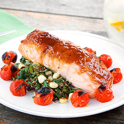 Maple Glazed Salmon with Fresh Corn Quinoa and Spinach by Chef'd (Dinner for 2)