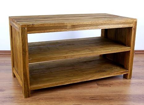 Java Couchtisch | Recyceltes Teakholz | Asiatischer Wohnzimmertisch mit Ablage | Designer Möbel aus Bootsholz | Massivholztisch der Marke Asia Wohnstudio | Kaffeetisch aus Bootsholz | Beistelltisch