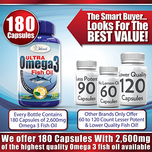 Fish oil omega 3 no fish burps or aftertaste 2 600mg 180 for Best fish oil capsules