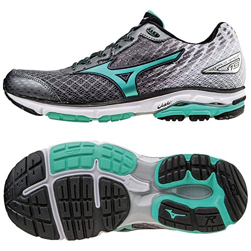 mizuno-wave-rider-19-mens-running-shoes-color-grey-green-shoe-size-4-uk