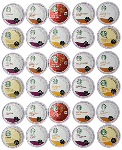 30 Count - Variety Pack of Starbucks Coffee K-Cups for All Keurig K Cup Brewers - (10 flavors, No DECAF, 3 K Cups each) (Keurig Coffee K Cups Variety compare prices)