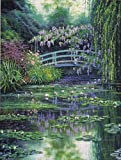 Candamar Designs 30.5 x 40.6 cm Monet's Japanese Bridge Embellished Cross Stitch Kit