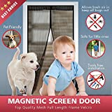 Bodyguard Magnetic Screen Door, Full Frame Velcro, 28 Sewn-in Magnets, Heavy Duty Mesh Curtain, Easy Installation, No Gap, No Falling, Fits Door Size up to 34 x 82-Inch (Black)