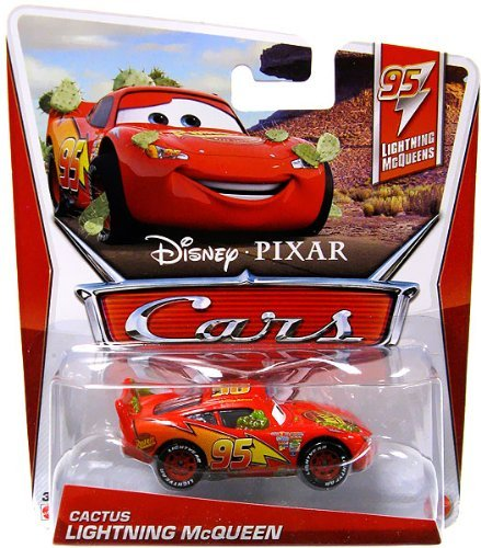 Cars 2 95 Lightning McQueens Cactus Lightning McQueen 1:55 Scale Die Cast Vehicle