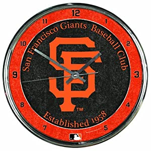 MLB San Francisco Giants Chrome Clock by WinCraft