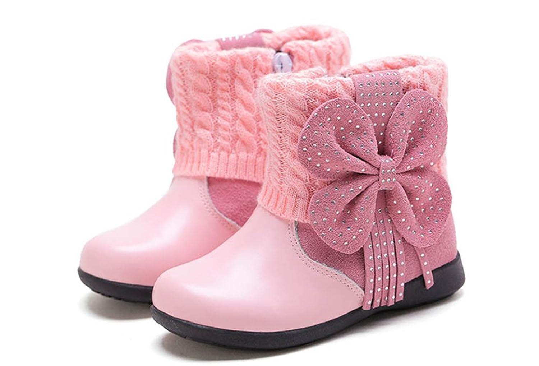Schöne Bogen Prinzessinnen Winter warm Anti-Rutsch Leder Stiefel snow boots/Schneestiefel Kinder-Schneeschuhe Jungen Stiefel Mädchenbaumwollstiefel Kinder warmen stiefel Fashion Kinder Schuhe