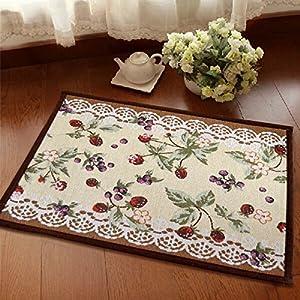 Ustide european modern carpet decorative kitchen floor rug blueberry fruit mats for Kitchen rugs with fruit design