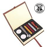Stamp Seal Sealing Wax Kit, Harry Potter Hogwarts Retro Classic Vintage Seal Wax Stamp Seal Maker Stick Gift Box Set (Color: Hogwarts)