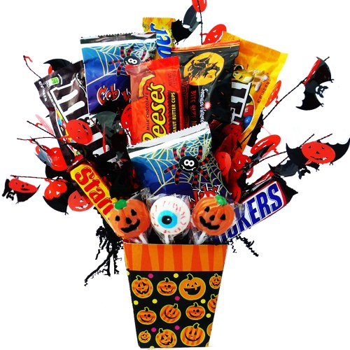 Happy Halloween Candy Bar and Treats Bouquet