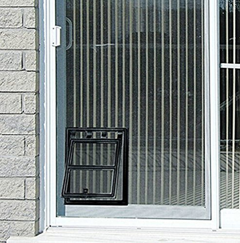 Lesypet magnetic dog door automatic lock pet window screen for Automatic locking dog door