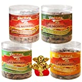 Chocholik Dry Fruits - Almonds Italian Herbs, Mexican Salsa, Smoked Barbeque & Smoked Jalapeni With Small Ganesha...