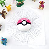 1 Piece Funny 3D Car Sticker, Decal Motorcycle Accessories, Pokeball Hit The Window Decoration, Car Body Sticker, Cartoon Design, Plastic Material, Size 17cm (Pink) (Color: Pink)