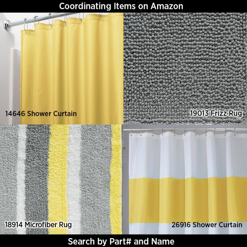 Interdesign Leaves Shower Curtain Gray And Yellow 72