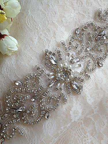 Best-Seller-Beaded-Rhinestone-Applique-Bridal-Beaded-Appliquewedding-Beltbridal-Beltrhinestone-Sashribbon-Sashbridal-Crystal-Sashsparkly-Wedding-Sash-204m1103