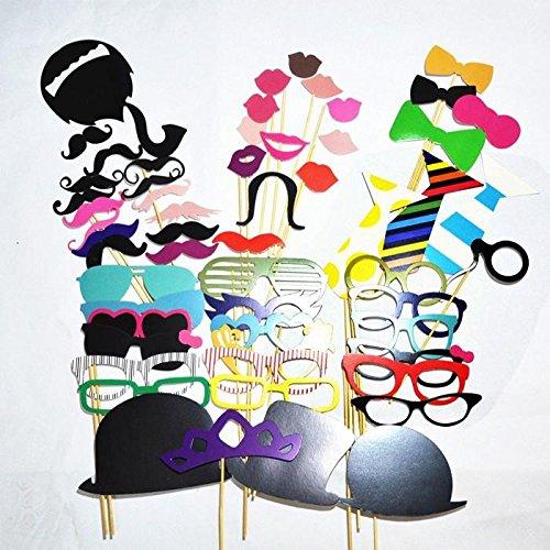 [Accessoires de Déguisements] Ohuhu® 58pcs Photomatons Props kit de DIY pour l'Anniversaire ,le Mariage ,le Noël Favor & Party Supplies, Dress-up