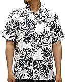 (ルーシャット) ROUSHATTE アロハシャツ 半袖 シャツ レーヨン ハイビスカス 12color M 柄1