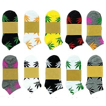5-Pair Pack of Marijuana Leaf Printed Socks