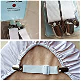 Adjustable Bed Sheet Grippers Cover Suspenders (Set of 4)