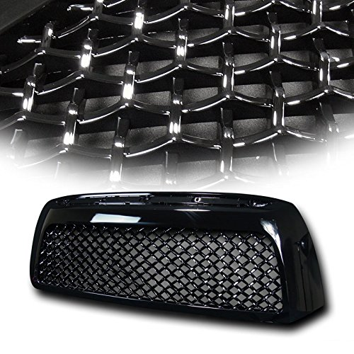 VXMOTOR 2007-2009 Toyota Tundra Black TR-Sport Mesh Front Hood Bumper Grill Grille Cover ABS (Toyota Tundra Black Bumpers compare prices)