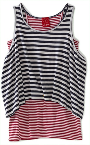 Ella Moss Girls 7-16 Wren Tank Top, Navy, 10