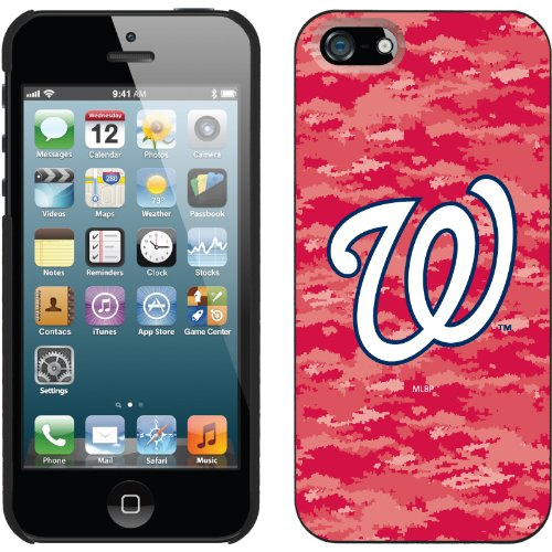 Best Price Washington Nationals - Digi Camo Color design on a Black iPhone 5s / 5 Thinshield Snap-On Case by Coveroo