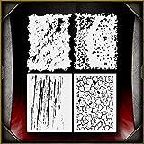 Mini Grunge Set AirSick Airbrush Stencil Template