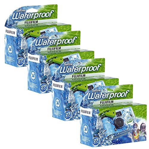 Fujifilm-Quick-Snap-Waterproof-35mm-Single-Use-Camera-4-Pack-BlueGreenWhite