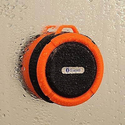 TurnRaise Muti-function 5W IPX5 Waterproof Dustproof Shockproof Wireless Shower Speaker Outdoor Excise Hiking Camping Speaker with Carabiner