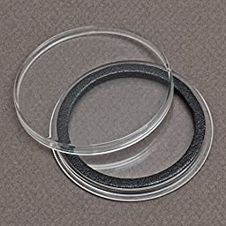 (5) Air-tite 42mm Black Ring Coin Holder Capsules