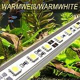 LED Aquariumbeleuchtung 90cm (warmweiss) Tageslichtsimulator Sonnenuntergang Mondlicht HQI T8 AB5WW