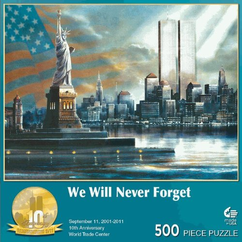 Cheap Masterpieces Puzzle Co. MASTER PIECES WE WILL NEVER FORGET 500 PC JIGSAW PUZZLE – SEPTEMBER 11 10TH ANNIVERSARY WORLD TRADE CENTER (B005CWJ8NG)