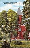 Crawfordsville Indiana Wabash College Yandes Library Antique Postcard K42637