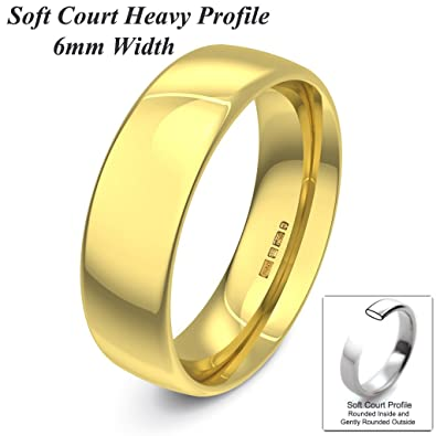 Xzara Jewellery - 9ct Yellow 6mm Heavy Court Profile Hallmarked Ladies/Gents 6.0 Grams Wedding Ring Band