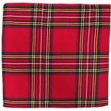 Tartan Fabric x 8 - Black Watch, Royal Stewart, Irish, Wallace 106 x 53 Inches