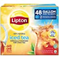 Lipton Gallon Sized Black Iced Tea Bags, Unsweetened, 48 Count by Lipton