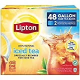Lipton Gallon Sized Black Iced Tea Bags, Unsweetened, 48 Count