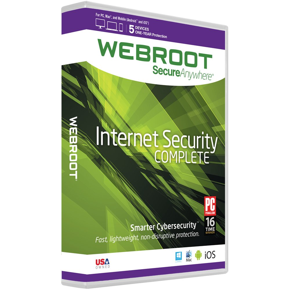 Webroot Internet Security Complete 2016 | 5 Devices | 1 Year | PC (Download)