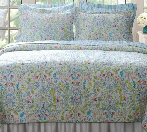 Romantic Chic Shabby Soft Floral Reversible Quilt Set King front-537608