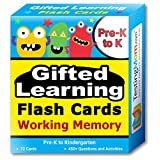 Gifted Learning Flash Cards – Focus and Memory for Pre-K – Kindergarten – Gifted and Talented Educational Toy Practice for CogAT, OLSAT, Iowa, SCAT, WISC, ERB, WPPSI, AABL, Woodcock-Johnson and more