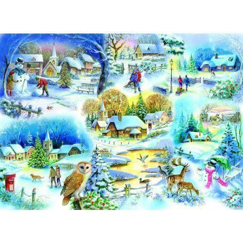 The House of Puzzles - Let It Snow - 1000 Piece Jigsaw Puzzle - 1